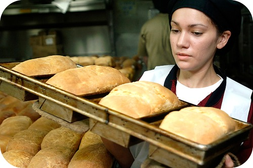 When bread is baked, the carbon dioxide inside expands