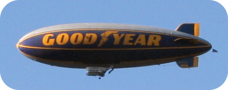 Goodyear blimp contains helium gas