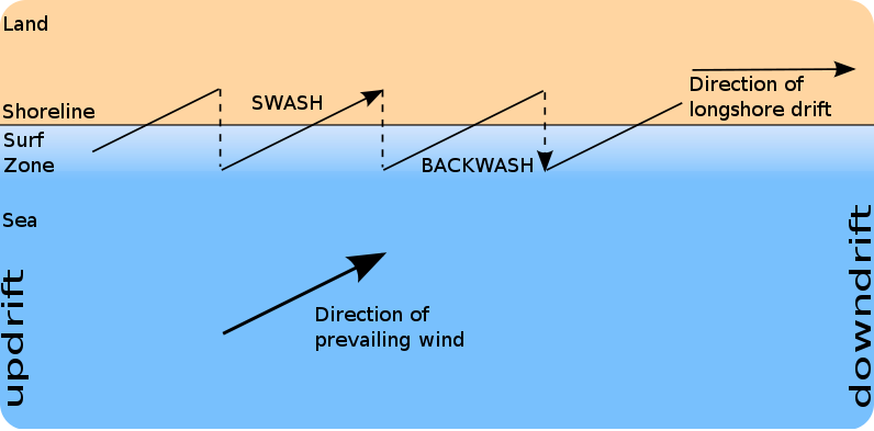 Diagram of longshore currents