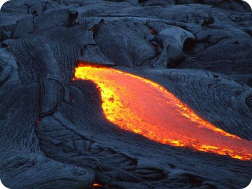 In effusive eruptions, lava flows readily, producing rivers of molten rock