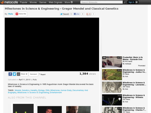 Gregor Mendel and Classical Genetics