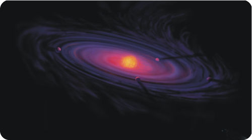 Drawing of a protoplanetary disk