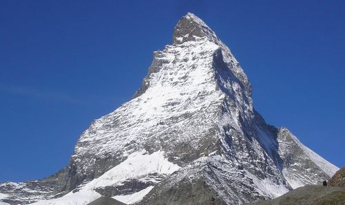 The Matterhorn in Switzerland is the classic glacial horn