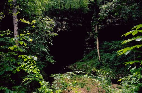Water flows through Russell Cave National Monument in Alabama