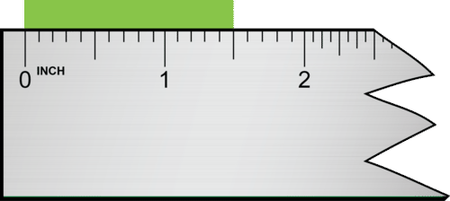 This measurement is read as 1.50 inches, which has three significant figures
