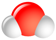 Structure of a water molecule