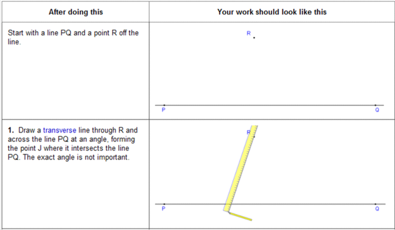 Construction: Parallel Lines