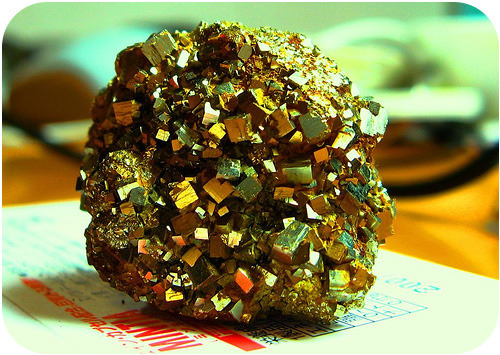 Pyrite, fool's gold, is a sulfide mineral