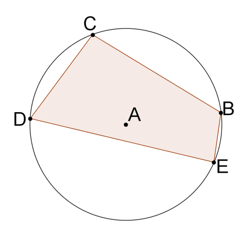 Inscribed quadrilaterals in circles read geometry ck 12 quadrilaterals that can be inscribed in circles are known as cyclic quadrilaterals the quadrilateral below is a cyclic quadrilateral ccuart