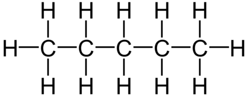 n-pentane is a straight chain isomer of pentane