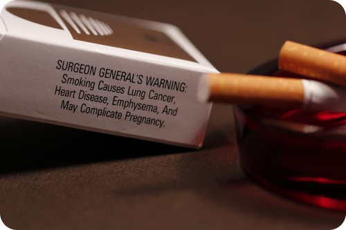 Cigarettes are a major source of chemical carcinogens