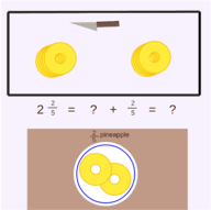 Mixed Numbers as Improper Fractions: Pineapple Slices