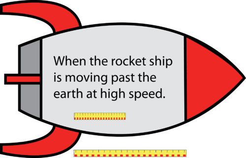 Meterstick in a moving rocket