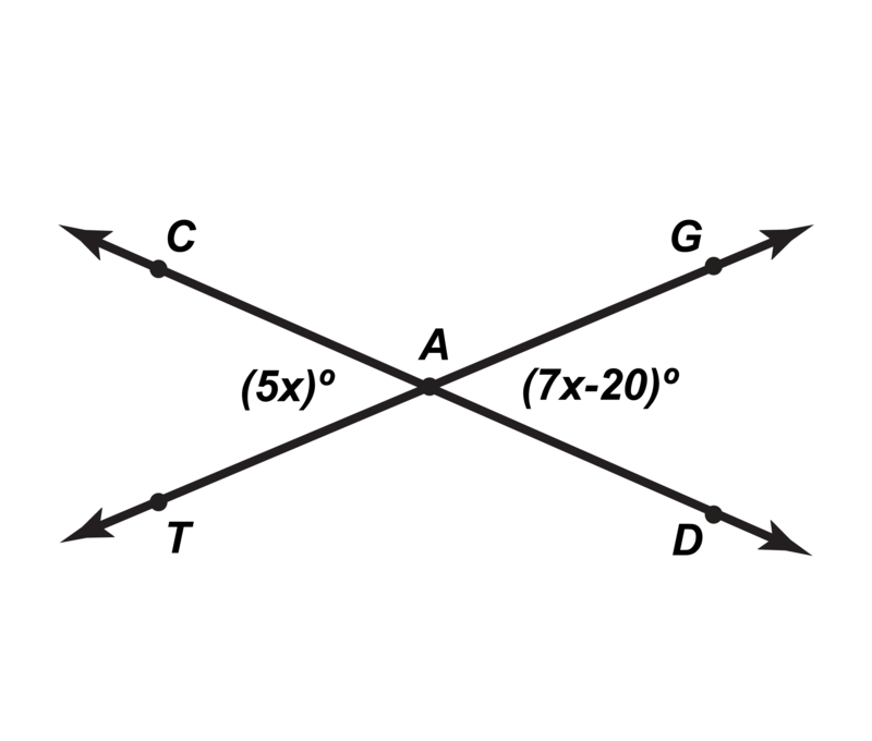 Angle Pair Relationships – Adjacent and Vertical Angles Worksheet