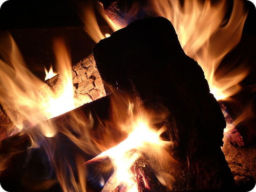 A burning campfire is a chemical reaction