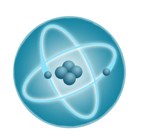 Model of a helium atom