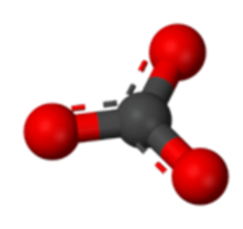 Structure of a carbonate ion