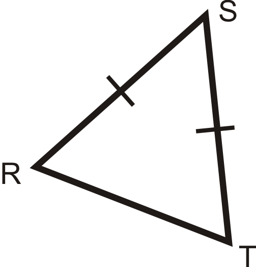 We are told there are two congruent sides, so it is an isosceles triangle.  By its angles, they all look acute, so it is an acute triangle. 9315d6fdf1