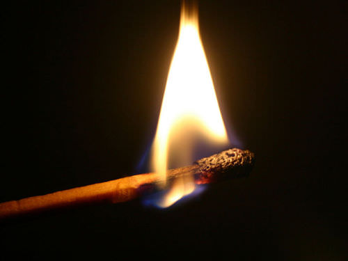 The combustion of this match is an observable event and therefore a phenomenon