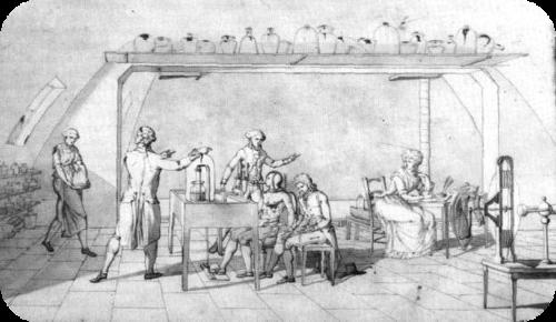 Antoine Lavoisier's laboratory