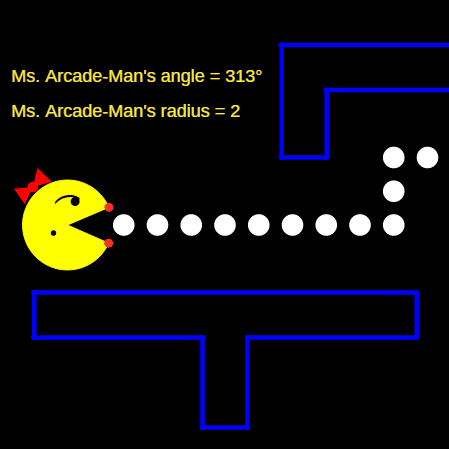 Area of Sectors and Segments: Ms. Arcade-Man