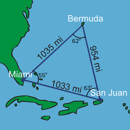 Bermuda Triangle with measured angles