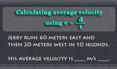 Speed and Velocity - Example 2