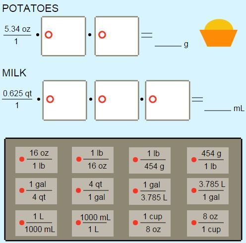 Everyday Stoichiometry: Mashed Potatoes