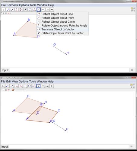 how to change lines on geogebra