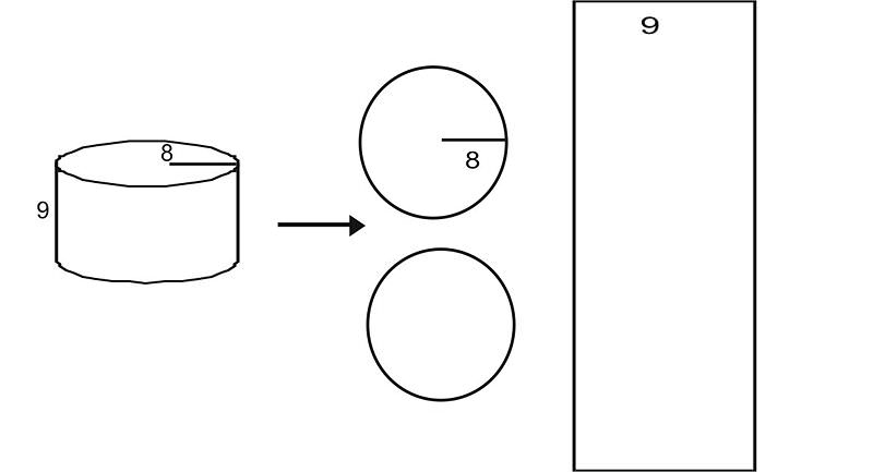 Cylinder Base Area Lateral Area Surface Area and Volume – Surface Area of a Cylinder Worksheet