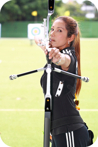 Shooting an arrow from a bow converts potential energy in the bent bow into the arrow's kinetic energy