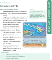 Intraplate Activity Study Guide