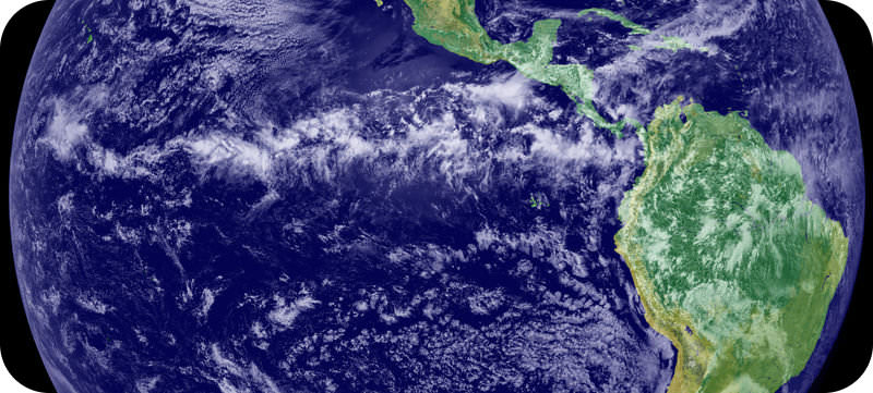 Satellite image of the Intertropical Convergence Zone