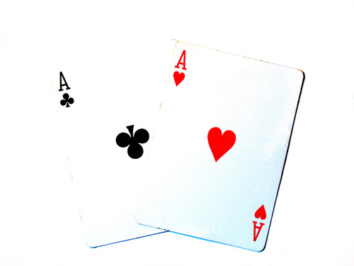 Aces from card deck