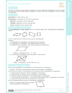 Parallelograms Study Guide