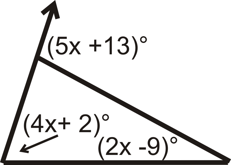 Amazing Set Up An Equation Using The Exterior Angle Theorem.