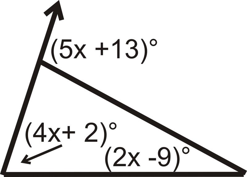 Set Up An Equation Using The Exterior Angle Theorem.