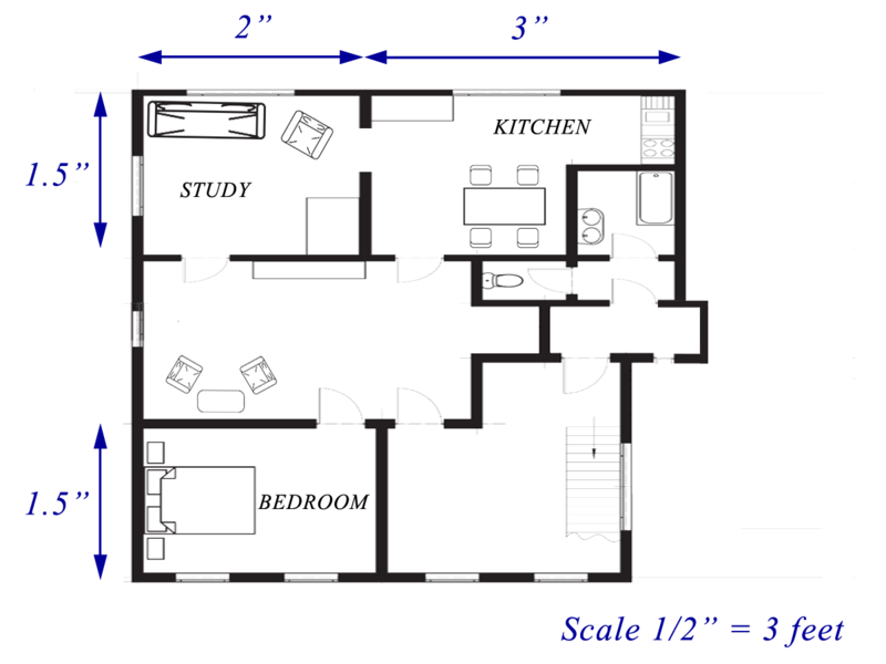 Read and interpret scale drawings and floor plans ck 12 for How to read foundation blueprints