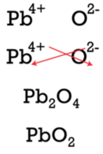 Crisscross method for lead (IV) oxide