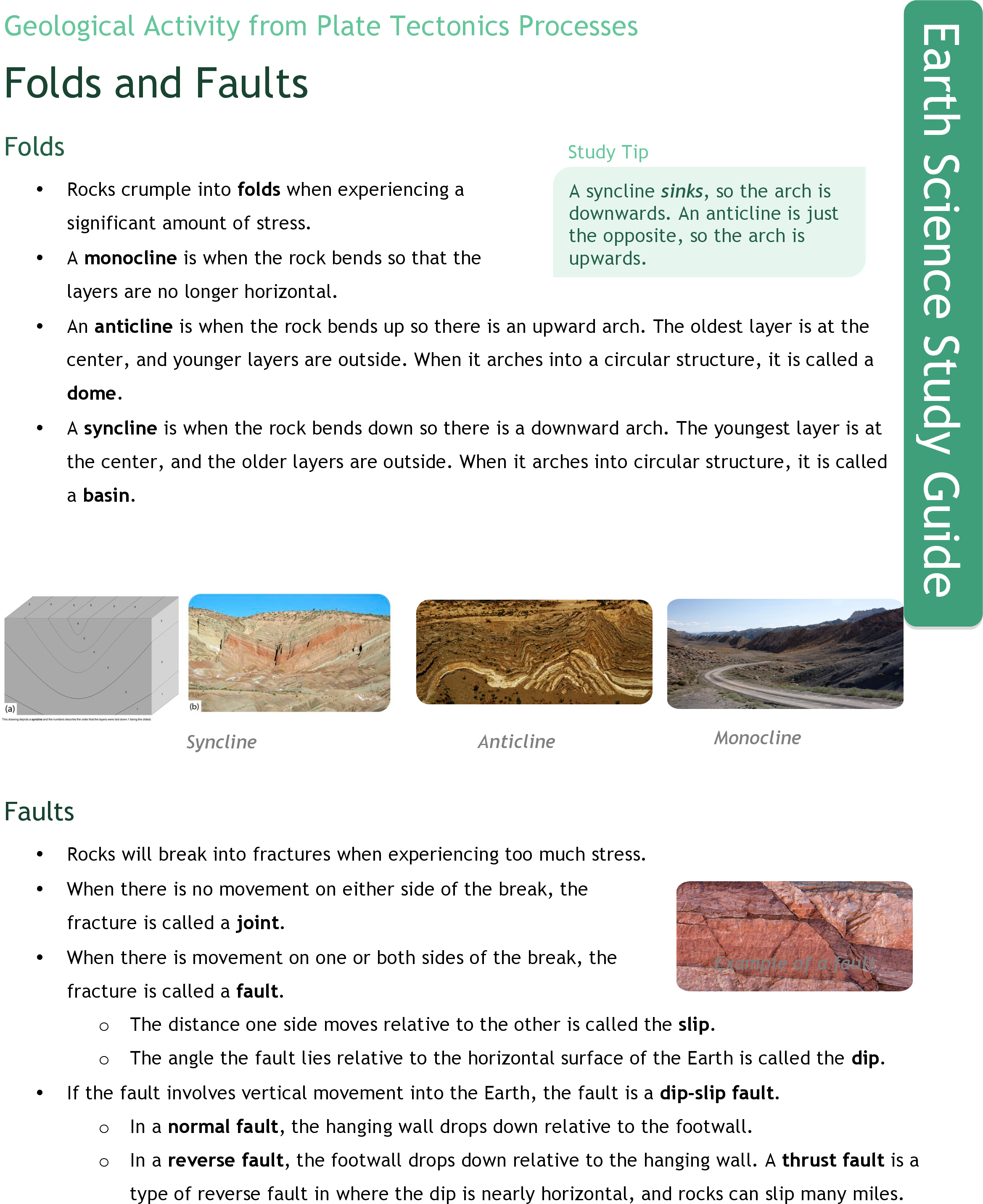 Worksheets Graphic Organizer For The Topic Faults faults ck 12 foundation folds and study guide