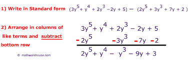 Adding and Subtracting Polynomials:  Add and Subtract
