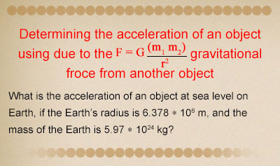 Newton's Law of Gravitation - Example 3