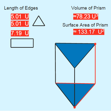 how to find the triangular prism surface area
