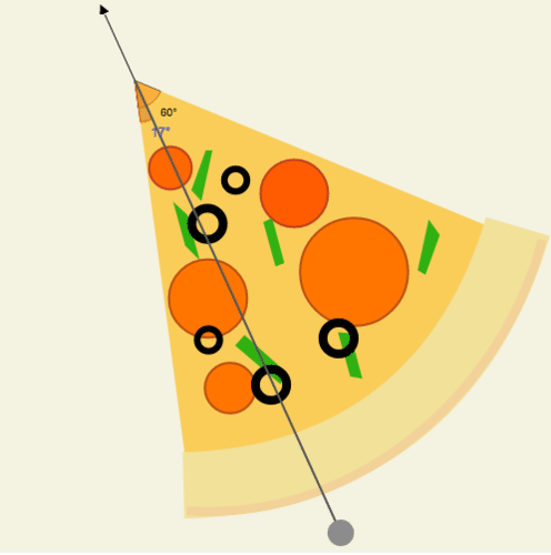 Congruent Angles and Angle Bisectors: Bisecting Pepperoni