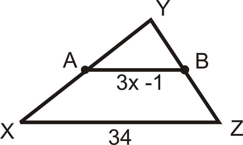 Midsegments Of A Triangle Ck 12 Foundation