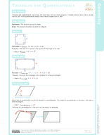 Triangles and Quadrilaterals Study Guide