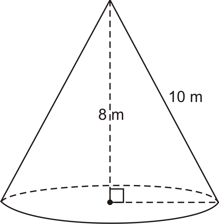 how to find total surface area of cone