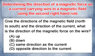 Second Right-Hand Rule: Direction of Magnetic Forces - Example 2