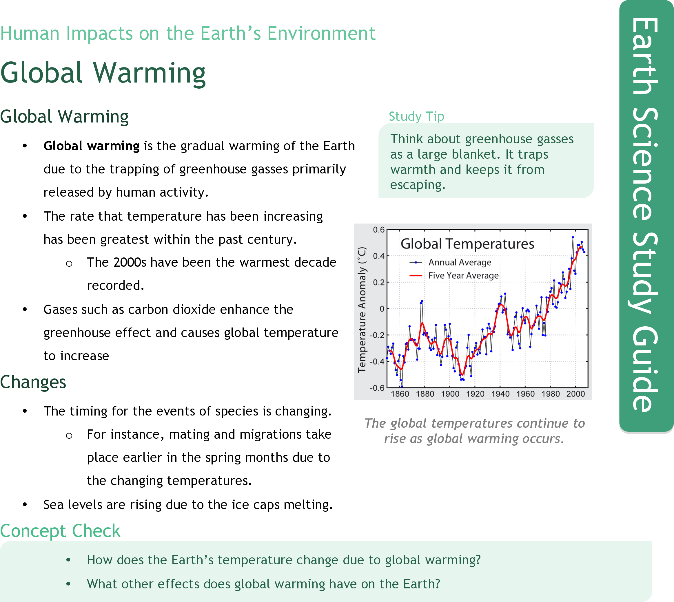 worksheet Global Warming The Signs And The Science Worksheet global warming ck 12 foundation study guide