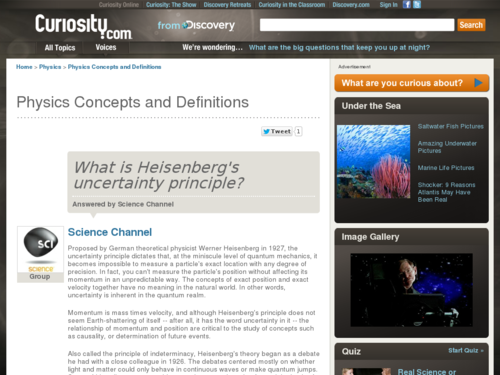 What is Heisenberg's Uncertainty Principle?
